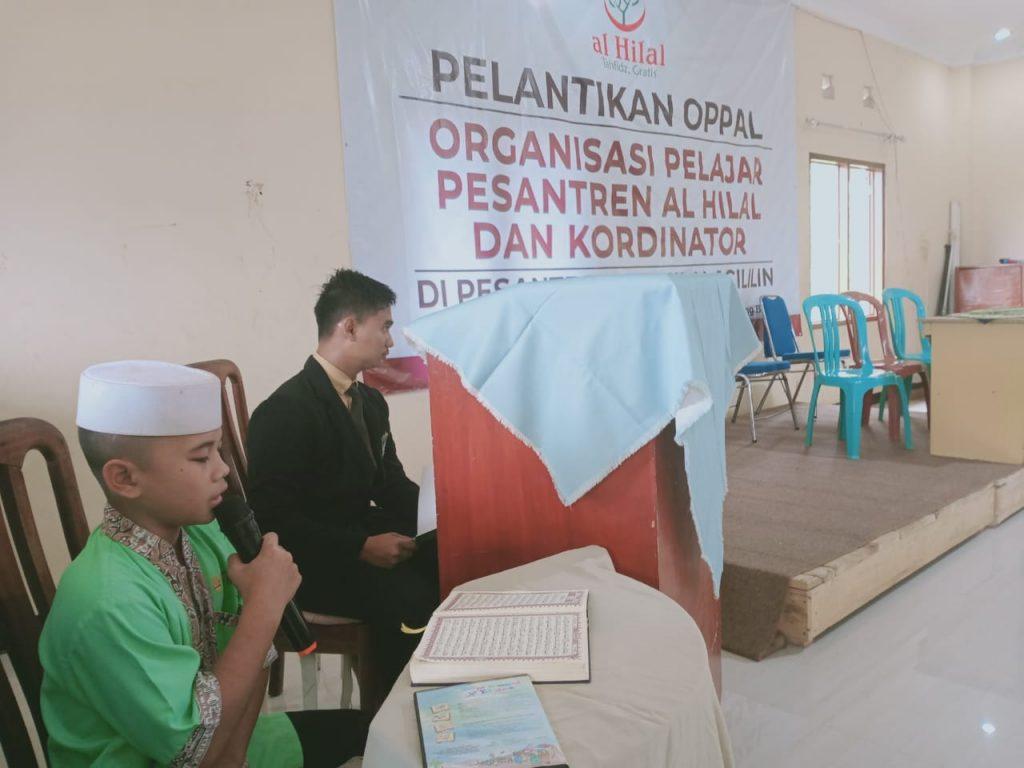 Pelantikan OPPAL Organisasi Pelajar Pesantren Al-Hilal dan Kordinator 3