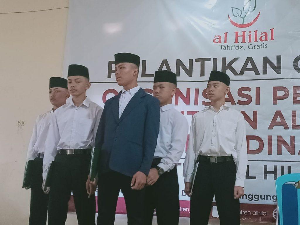 Pelantikan OPPAL Organisasi Pelajar Pesantren Al-Hilal dan Kordinator