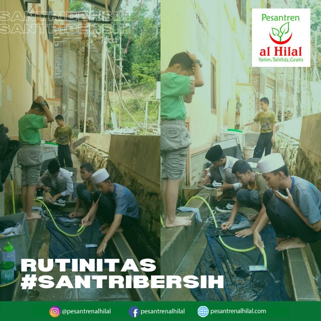 PESANTREN AL HILAL Rutinitas #SantriBersih