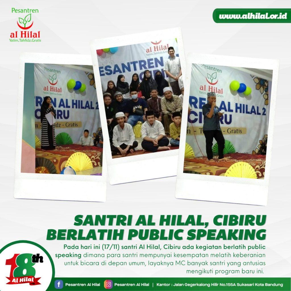 PESANTREN AL HILAL Santri Al Hilal, Cibiru Berlatih Public Speaking 1