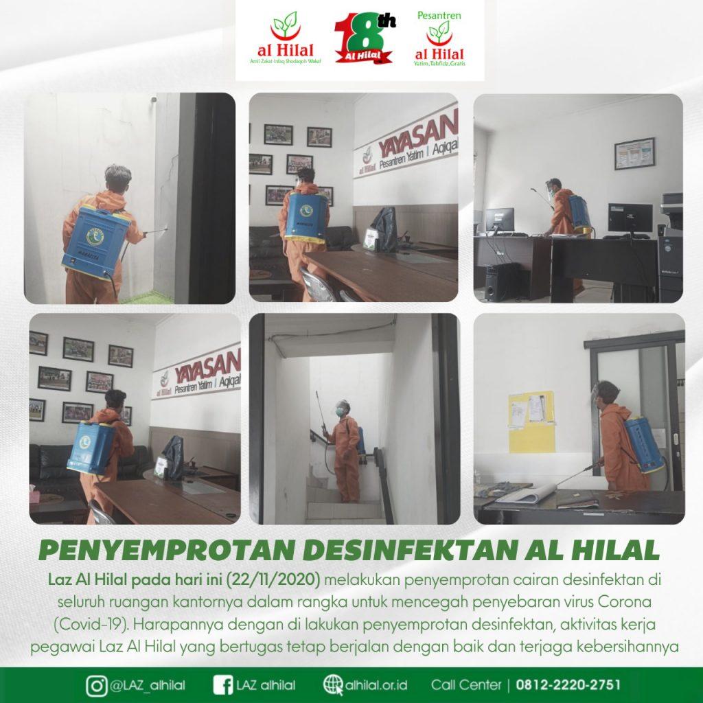 LAZ AL HILAL Penyemprotan Desinfektan Kantor Al Hilal 1