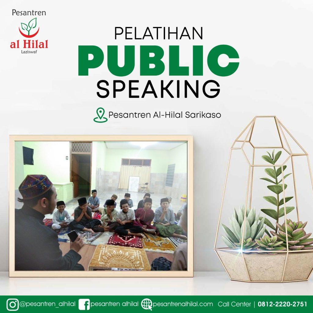 LAZ AL HILAL Santri Al Hilal, Sarikaso Belajar Public Speaking