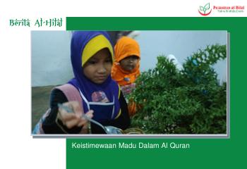 Keistimewaan Madu Dalam Al Quran 4