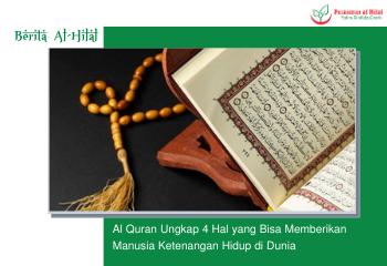 Al Quran Ungkap 4 Hal yang Bisa Memberikan Manusia Ketenangan Hidup di Dunia 6
