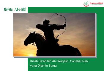 Kisah Sa'ad bin Abi Waqash, Sahabat Nabi yang Dijamin Surga 2