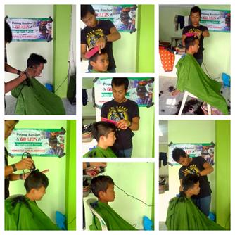 Potong Rambut Gratis Untuk Santri dan Anak Yatim 1