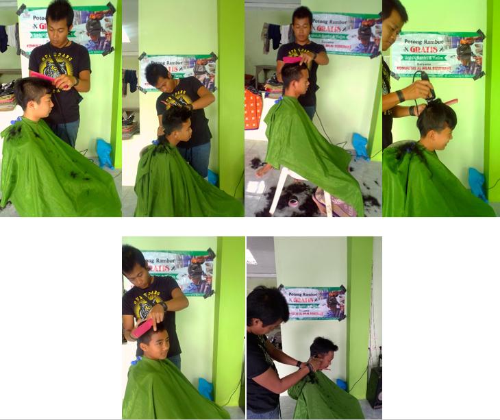 Potong Rambut Gratis Untuk Santri dan Anak Yatim 2