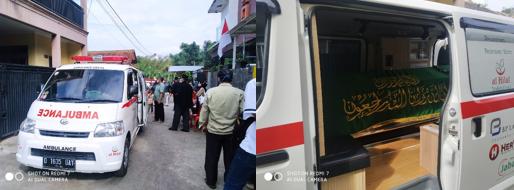 Pengantaran Jenazah Tanpa Riwayat Covid-19 Ke TPU Cibinong, Kabupaten Bandung Barat 2